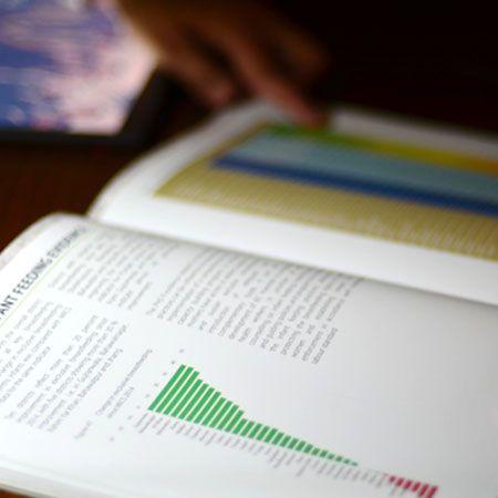 Business data analysis graph